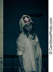 nurse zombies - nurse infected by virus zombies, pretty but...