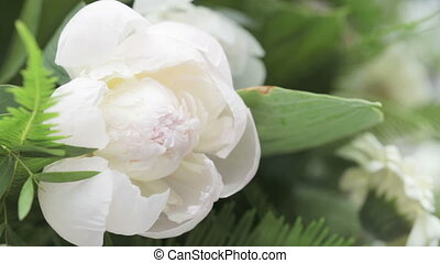 White Peony - In decoration bouquet of white peony