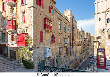 Streetview of Valletta, Malta - Streetview of Valletta, the...