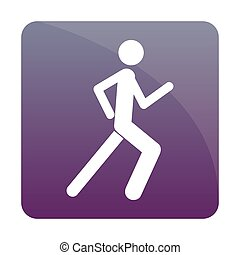 Fitness Icon - Isolated fitness icon on a colored...