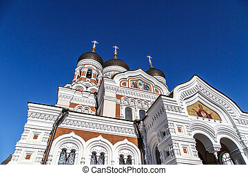 Orthodoxy Cathedral - Bottom view of Alexander Nevsky...