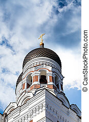 Orthodoxy Cathedral - Side view of the dome of Alexander...