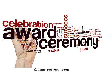 Award ceremony word cloud concept