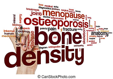 Bone density word cloud concept