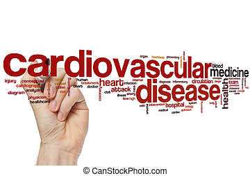 Cardiovascular disease word cloud concept