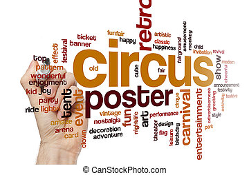 Circus word cloud concept