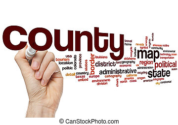 County word cloud concept