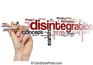 Disintegration word cloud concept
