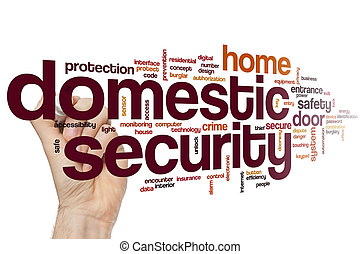 Domestic security word cloud