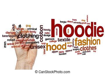 Hoodie word cloud concept