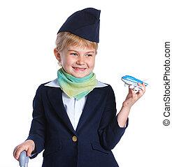 Little stewardess - Portrait of Charming Little Stewardess...
