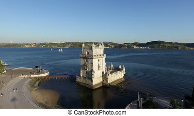 Aerial from the Belem Tower Lisbon - Aerial from the tower...