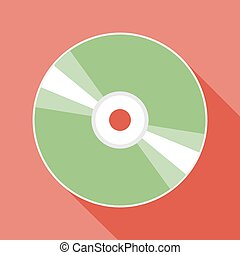 Compact disc icon - Vector flat style compact disc icon...