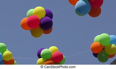Air balls - Balloons swayed in the breeze on a hot summer...