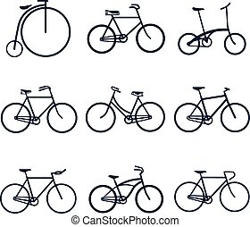 Bicycles icons