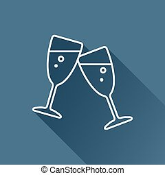 Vector stemware icon Eps10 - Vector flat stemware glass icon...