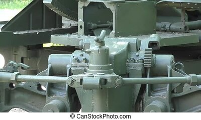 Anti-aircraft gun during the second world war