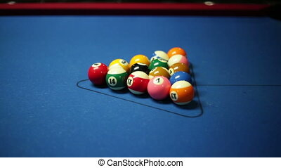 pool table, shot of break - Game