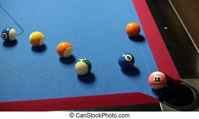 Pool game corner shot miss