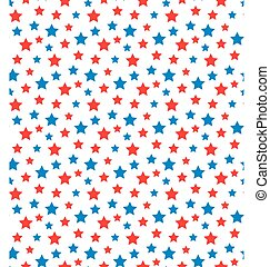 USA celebration seamless with stars in national colors for independence day isolated on white