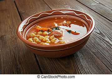 Chorba homos - Algerian chick-pea Soup with meat and...