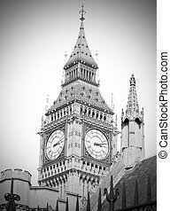 london big ben and construction england aged - london big...