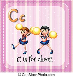Cheer - Flashcard letter C is for cheer