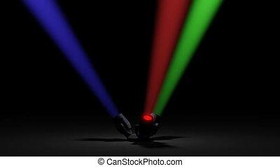 Spotlights rotation