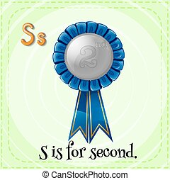 Second - Flashcard letter S is for second