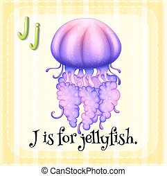 Jellyfish - Flashcard letter J is for jellyfish
