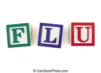 FLU Alphabet Blocks, viewed from above - Alphabet blocks...