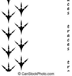 Seamless bird footprints - Seamless track from the bird...