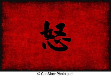 Chinese Calligraphy Symbol for Anger
