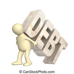 Hostage of the debt - Conceptual image - hostage of the debt