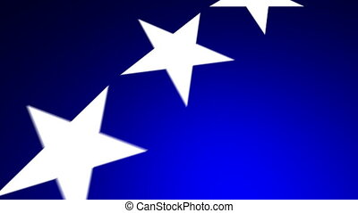 Flying Stars 02 Blue 30fps - A political themed background...
