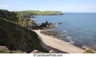 South Devon coast near Hope Cove uk - View of South Devon...