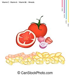 Tomatoes and Shallot with Vitamin C, A and B6 - Healthcare...