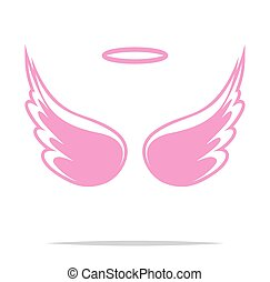 Angel wings vector icon