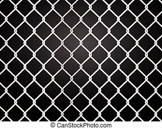wire fence on a black background Vector illustration