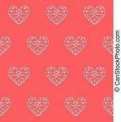 Heart vector seamless pattern