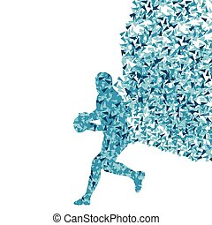 Rugby player man abstract silhouette vector background...