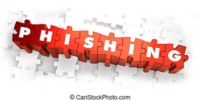 Phishing - White Word on Red Puzzles - Phishing - White Word...