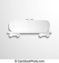 Boxcar Covered wagon Vector illustration EPS 10 Opacity -...