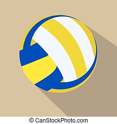 Volleyball Single color flat icon Vector illustration Eps 10...