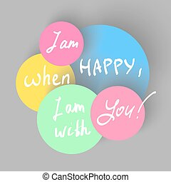 happy confession - I am happy, when I am with you hand...