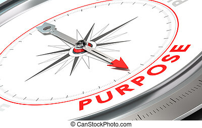 Achieving Purposes or Objectives - Compass with needle...