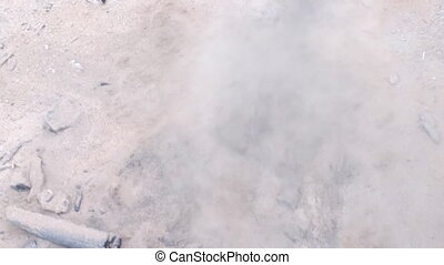 Fluidized sand boiling - hot sand boils like water