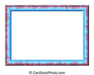 Frame - The rectangular blank embossed photo frame with a...