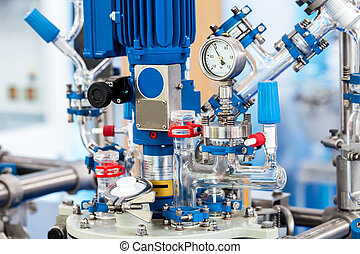 Chemical processing reactor systems closeup - Basic Glass...