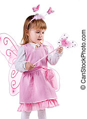 Little girl in fairy costume